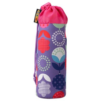 Bottle Holder_Purple Floral Dots_AC4487